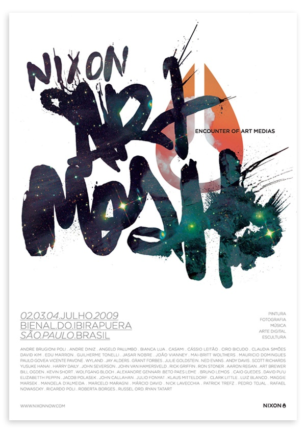 Nixon Brazil Event Poster by Renato Breder, via Behance