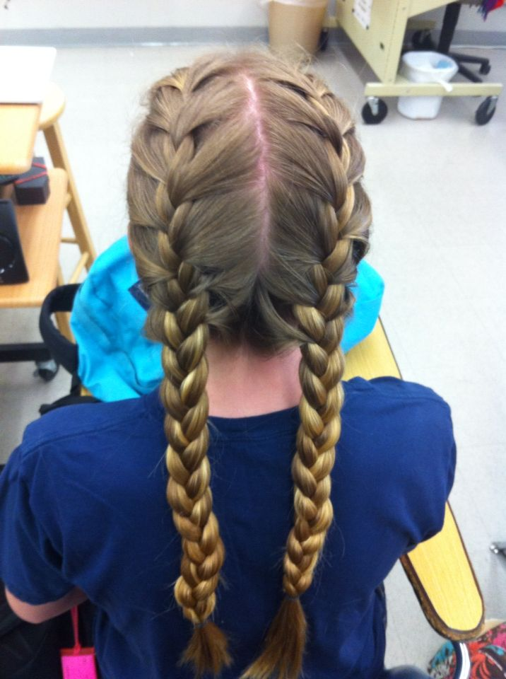 These are French braids Done on Sydney