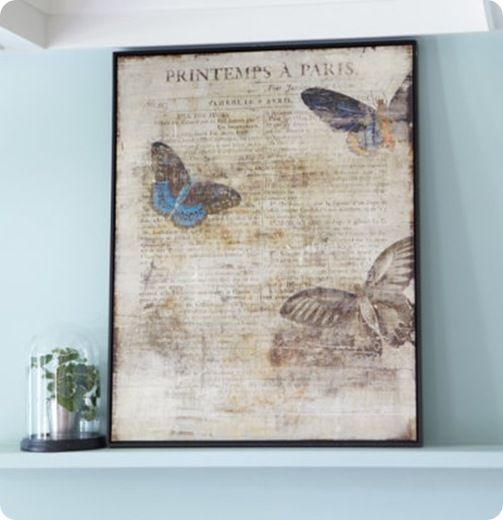 Love this!  Vintage, butterflies, inked edge… SO me!