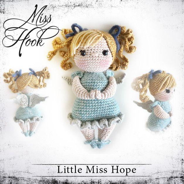 """Häkelanleitungen - Häkelanleitung """"Little Miss Hope"""" Schutzengel PDF - ein Designerstück von MissHook bei DaWanda ☆"""