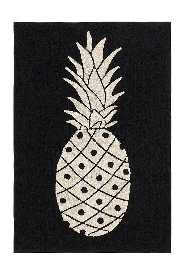 Black U0026 White Pineapple Teppich In Schwarz Weiß