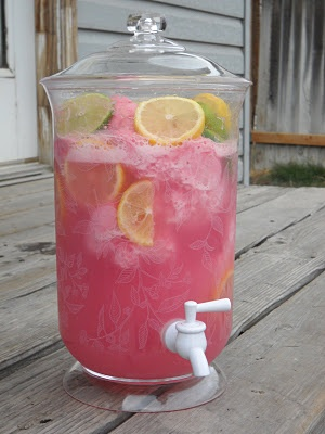 Raspberry Slush. Raspberry Slush  1/2 gallon Raspberry Sherbet 2 Liters Sprite Lemons and Limes for garnish