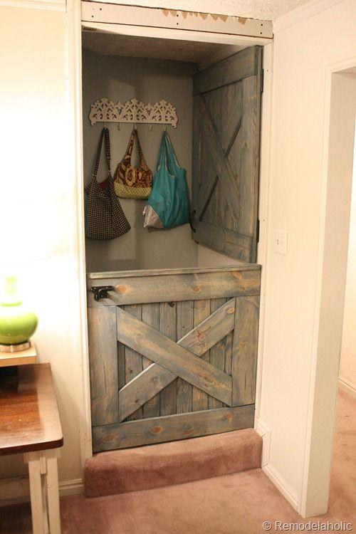 Closet Door Alternative? Remodelaholic | DIY Dutch Barn Door