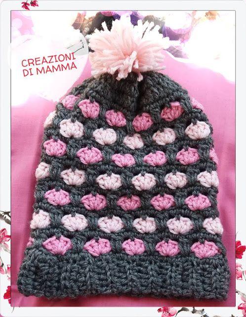 Creazioni di mamma: Berrettino in sfumature di rosa