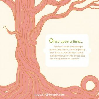 Fairy tale tree template