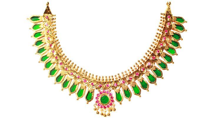 Gold Palakka Mala South Indian Jewellery Pinterest
