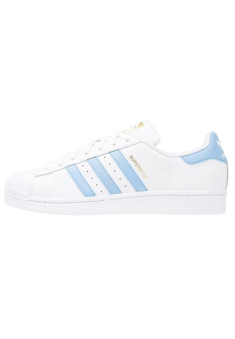 Chaussures adidas Originals SUPERSTAR FOUNDATION - Baskets basses - white/light blue/gold metallic blanc: 100,00 € chez Zalando (au 12/04/17). Livraison et retours gratuits et service client gratuit au 0800 915 207.