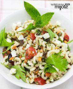 Salade de pâtes toute simple à la grecque #recette