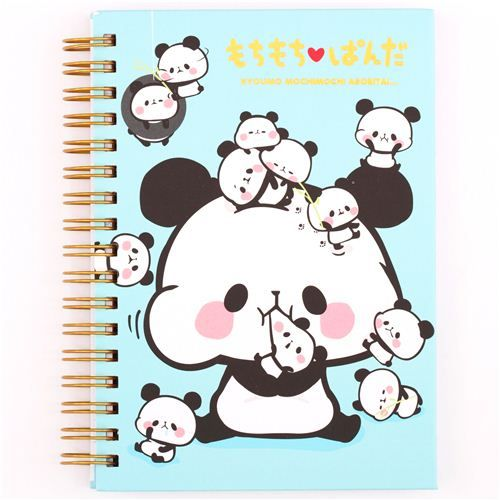 blue Mochi panda bears ring binder notebook by Kamio ...not sure if this is adorable or a little bit horrifying