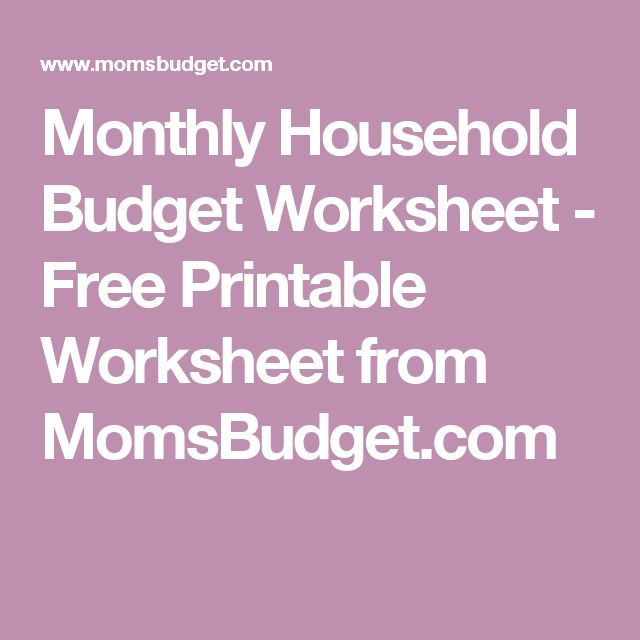 25+ Best Household Budget Worksheet Ideas On Pinterest | Budget