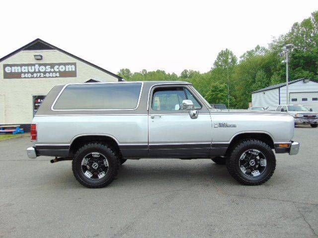 1988 Dodge Ramcharger For Sale At E M Auto Sales In Locust Grove Va Dodge Ramcharger Cars For Sale Dodge