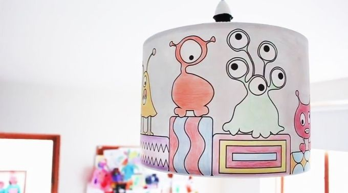 Monsters World Lampshade perfect for those little ones who love to rawr!