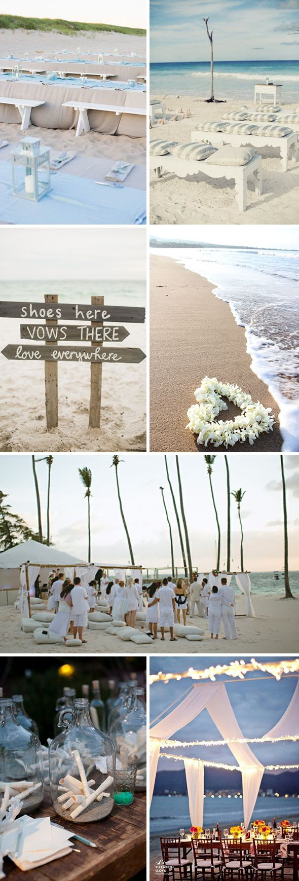 Love the Benches instead of chairs! Simple Beach Wedding Ideas | The Destination Wedding Blog - Jet Fete by Bridal Bar