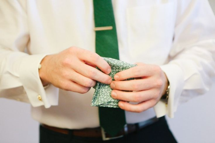 Dreamy Mexico Destination Wedding at Paradisus Playa del Carmen La Esmaralda  Fun green tie and pocket square for the groom!   Photographer:  Leah Moyers Photography