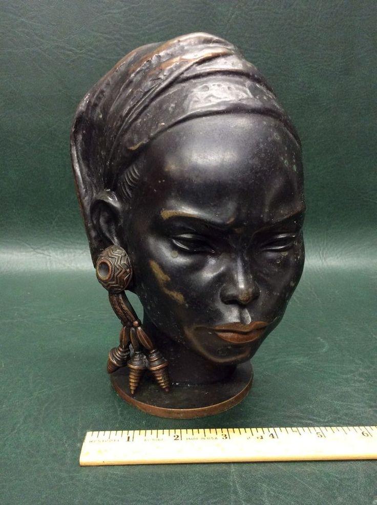Bronze Sculpture signed Richard Rohac African Woman Bust,  Austria, Vienna  | eBay