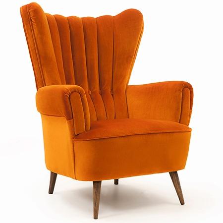 RetrOrange 1950'ler berjer. 1950's armchair.
