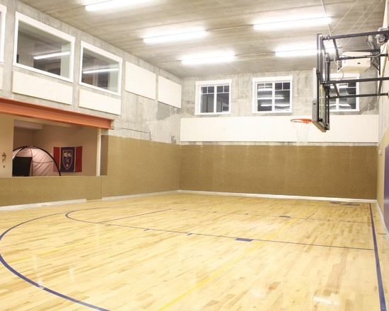 1000 images about basketball court on pinterest barn for Indoor basketball court design
