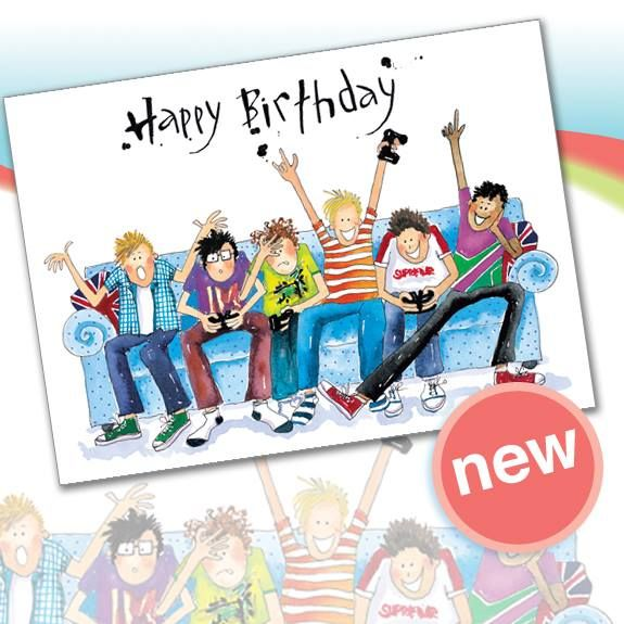 A121 Gaming Sofa Birthday.  Greetings card from Phoenix Trading. £1.75 each or save 20% when you buy 10+ cards of any design.