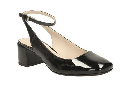 Womens Smart Shoes - Chinaberry Ice in Black Patent from Clarks shoes