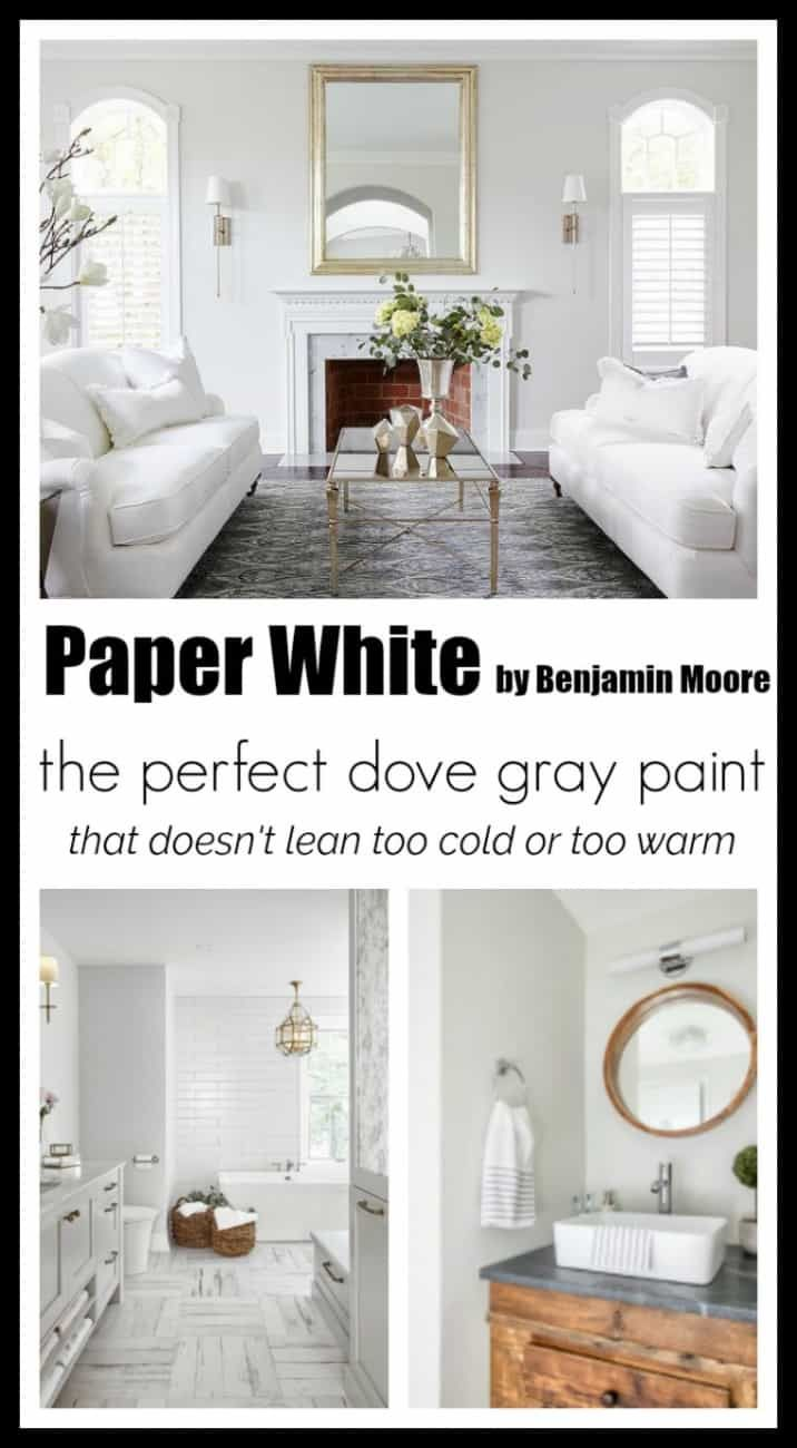 Paint Colors: Paper White by Benjamin Moore