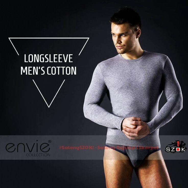 🔴 Na zbliżające się wielkimi krokami #jesienne dni #polecamy #ekskluzywną #koszylkę #LongSleeve #Men's firmy #Envie. Dostępna w Naszych #SalonySZOK!👣