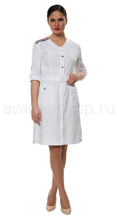 """Халат женский LE1103 Lantana / Халаты / Женская одежда """"Lantana"""" / Медицинская одежда"""