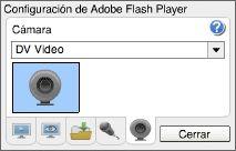 Adobe Flash Player: Ayuda: Parámetros de la cámara