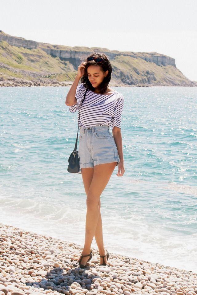 High Waist Denim Shorts by American Apparel. #bloggers #denim #shorts #spring #summer
