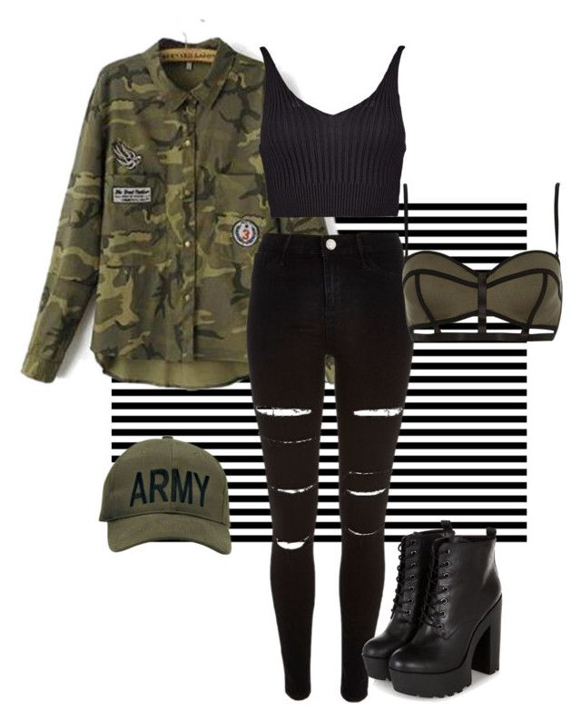 """Army style"" by marieck-1 on Polyvore featuring Neeya, River Island and Boohoo"
