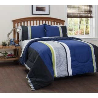 american original logan stripe 7piece bed in a bag with sheet set canada shops and stripes