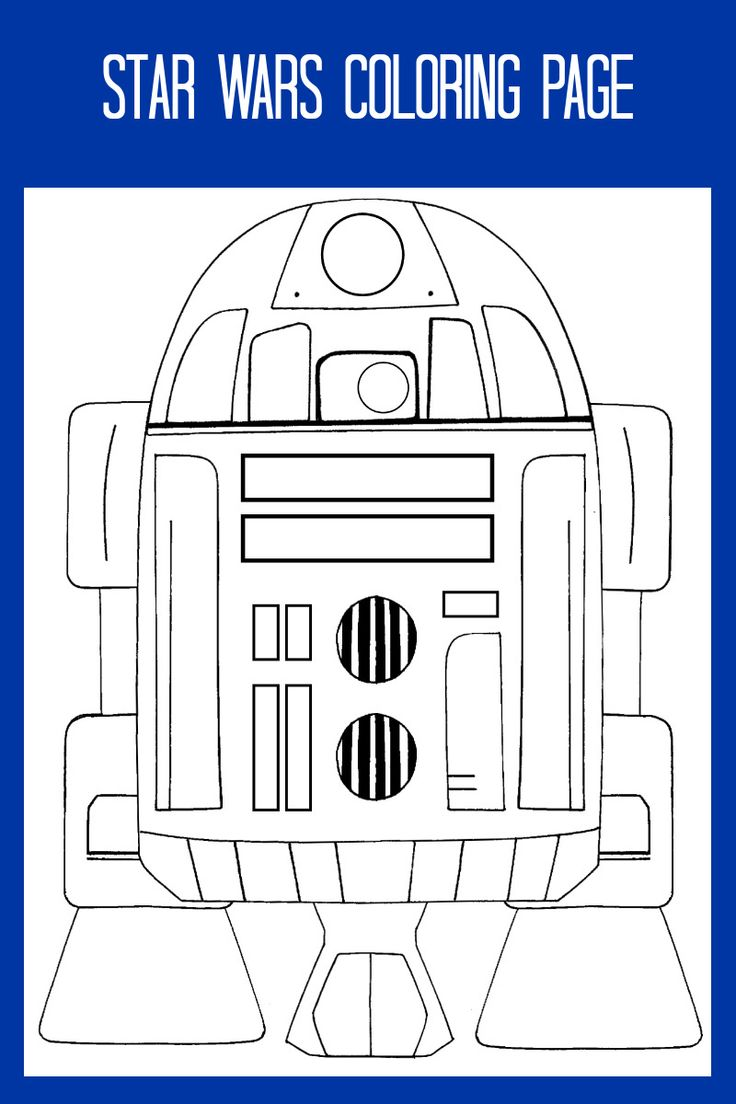 Free Printable Star Wars R2D2 Coloring Page in 2020 | Star ...