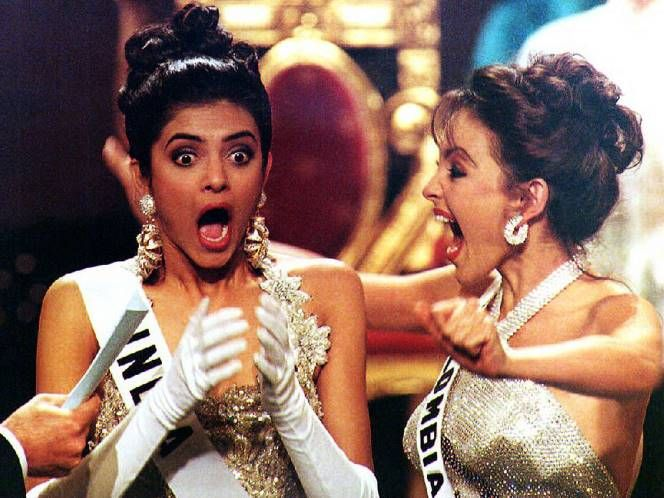 'THE' moment for beauty queen Sushmita Sen when the name for Miss Universe 1994 was announced.