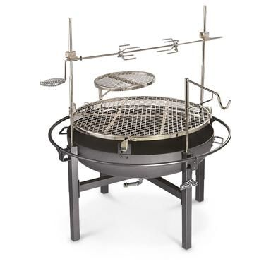 Cowboy Fire Pit Rotisserie / Grill. Really really want this!