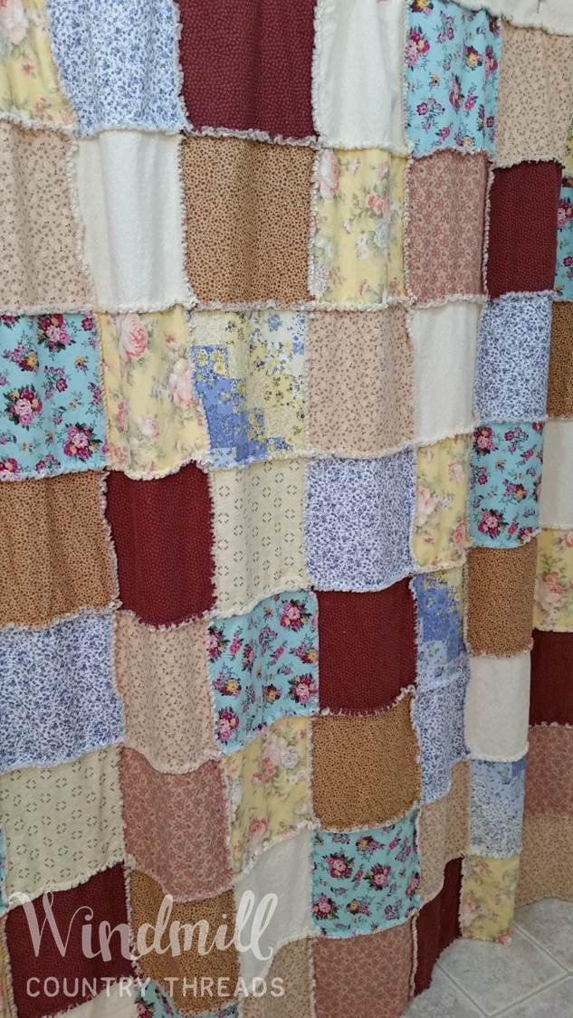 Shabby Chic Shower Curtain Cottage Country Bathroom D 233 Cor