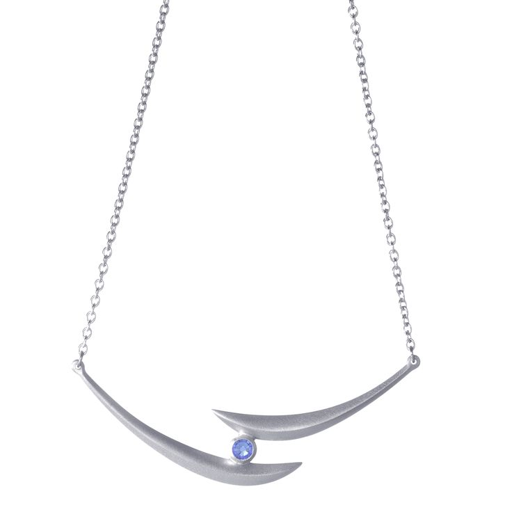 Paired with a blue Swarovski Crystal, Crescent is an elegant piece.