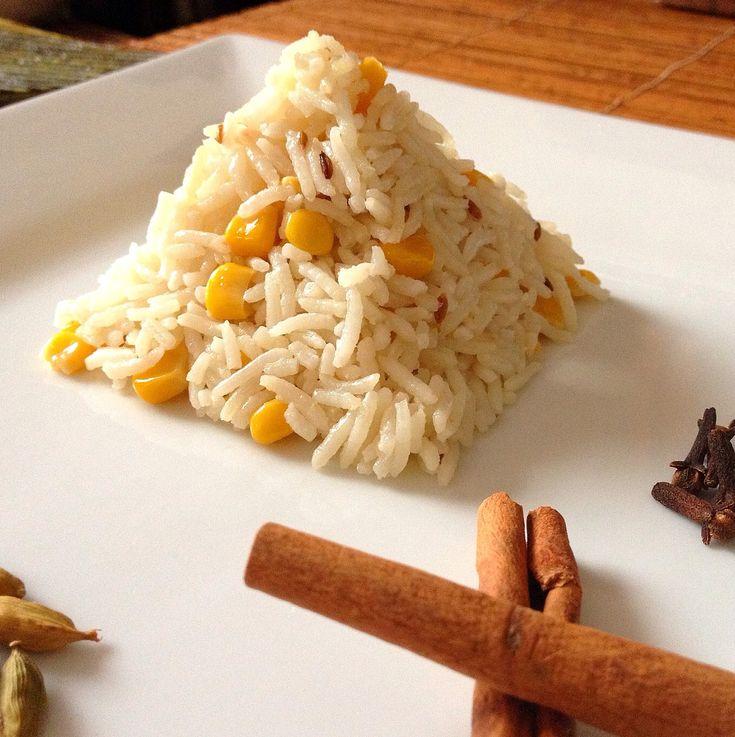 32 best pulao biryani images on pinterest biryani street food coconut corn pulao basmati rice with whole spices coconut milk and sweet corn ccuart Choice Image