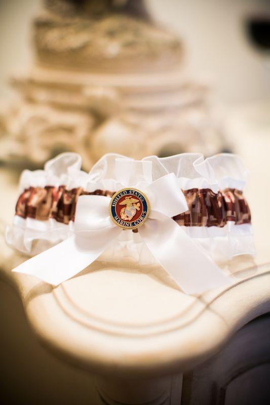 Marine Corp Garter Belt From Davids Bridal Wedding