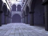 sponza atrium 3d - flythrough animation
