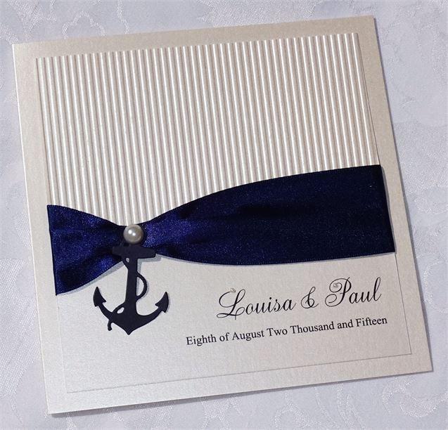 Nautical wedding stationery