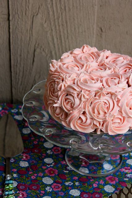 Love the pink rosettes