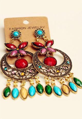Bohemian fashion tassel earrings