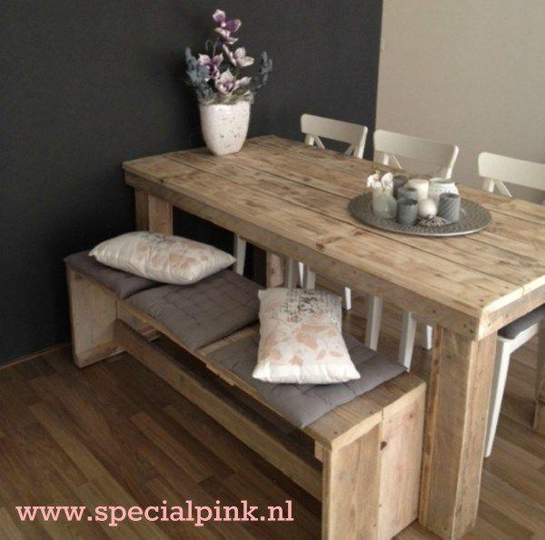 183 best images about steigerhout on pinterest wood for Steigerhout eethoek