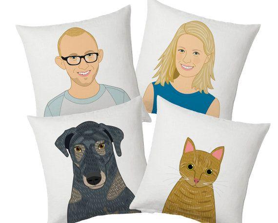 Decorative Pillow set. Custom portrait pillow. by lilidiprima