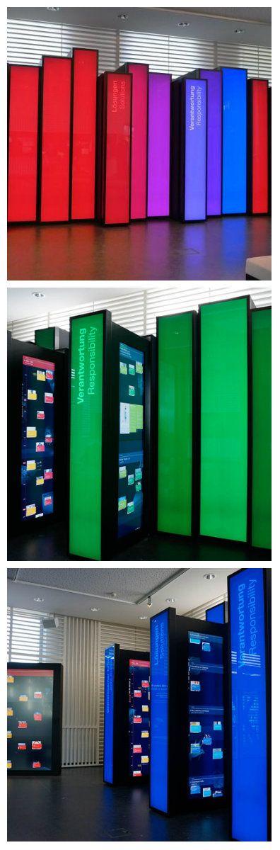 Отмечая юбилей в 2015 году, компания BASF SE установила в своем визит-центре медиа инсталляцию, которая помогает ознакомиться с историей развития компании. Основная идея разработанной концепции была символика аналоговых книг – как символ истории. #светодиоды #освещение #подсветка #светодизайн #свет #инсталляция #медиаинсталляция #световаяинсталляция #дизайнофиса #светодиоднаяподсветка