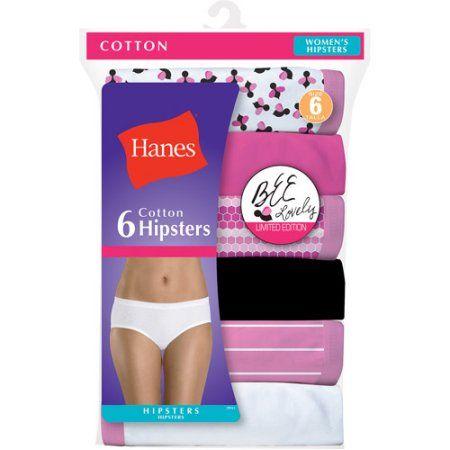 Hanes Women's Cotton Hipster Underwear - 6 Pack, Assorted