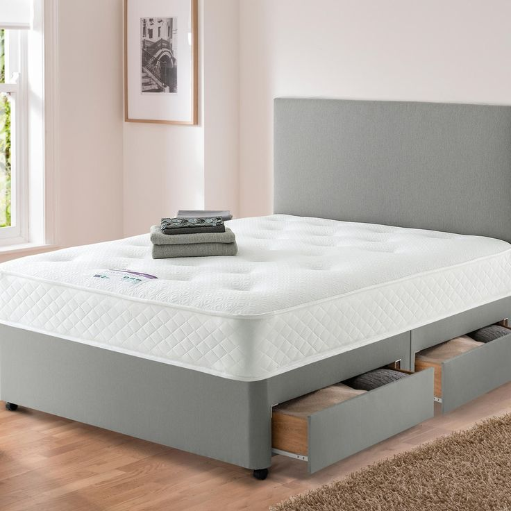 Silentnight Perfecta Comfort Divan Bed at Carpetright  Spread the cost with Interest  free credit or save with our Price Checker  Bed recycling available. 17 Best images about beds on Pinterest   Ottomans  Grey fabric and