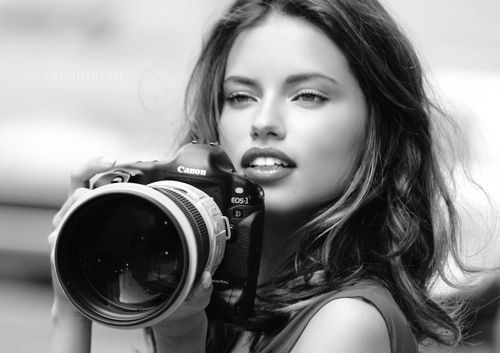 Adrina Lima and Canon with L glass. No words to describe her beauty. Classic pretty with dark hair.