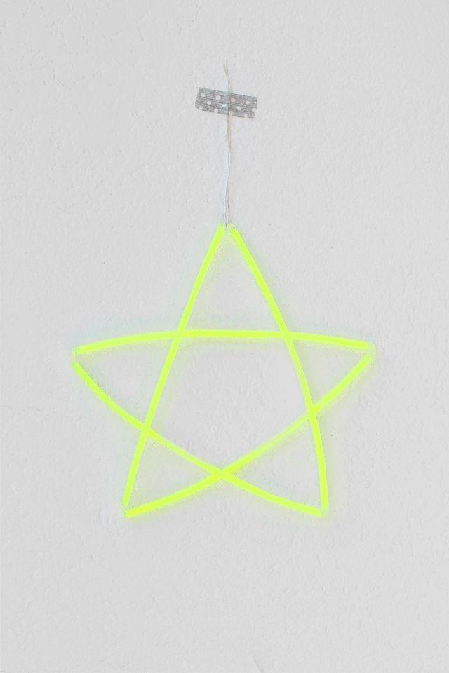le idee della Vale: DIY Glowing Stars - Stelle Luminose - decorazioni da appendere - Tutorial #home #decor #star
