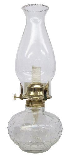 Glo Brite L395CL Princess Clear Glass Oil Lamp by Glo Brite. $16.26. Glass globe and font. Burns kerosene, lamp oil, citronella, and liquid paraffin. 12-1/4-Inch tall. Beaded glass design. This is a best selling classic style oil lamp. The lamp measures 12-1/4-inch tall, has a glass font, standard 3-inch brass burner and glass globe.