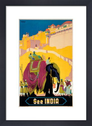 See India - Elephant Art Print by National Railway Museum at King & McGaw